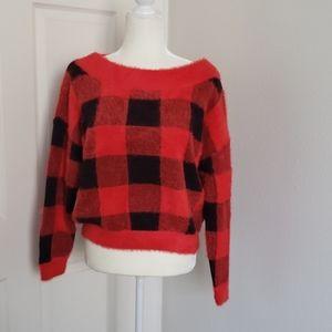Buffalo plaid Sweater (M)